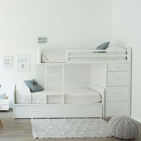 Twin cama tren espacios infantiles habitaciones con - Habitaciones infantiles tren ...