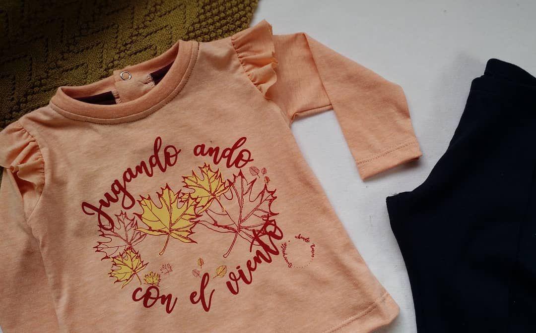 #new in ➡️Las hojas, el viento y los volados ❤ Remera hojarasca.  #babywinter  #invierno  #hojas  #deunrepollo  #baby  #babygirl