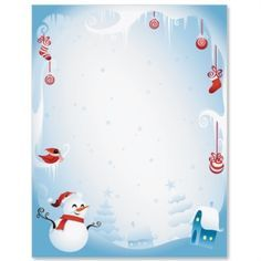 Frosty Wonderland Letter Paper  Coloring Pages