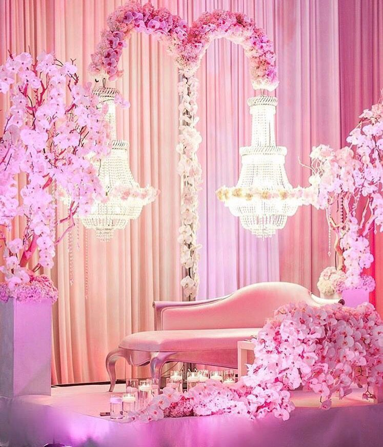 Isn T This Just The Prettiest Stage Set Up For A Newly Wed Couple Couples Decor Wedding Decorations Decor