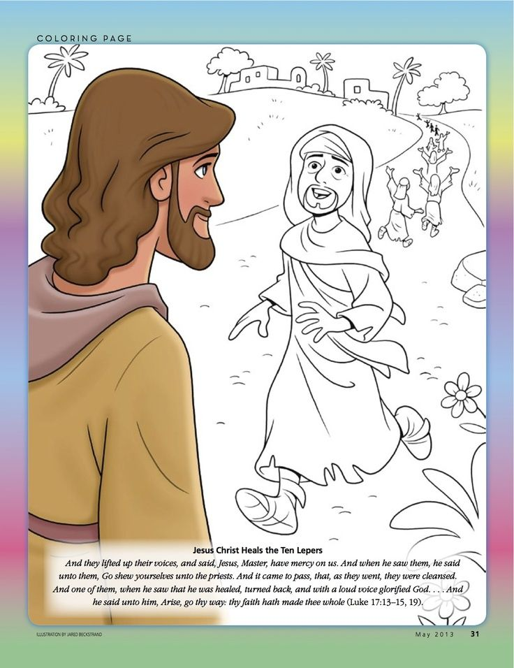 34++ Jesus heals 10 lepers coloring page download HD