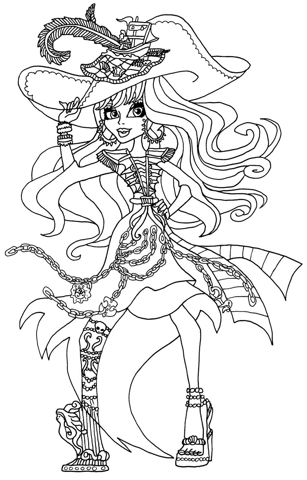 A Coloring Page Of Vandala Doubloons New Character From Monster High Haunted