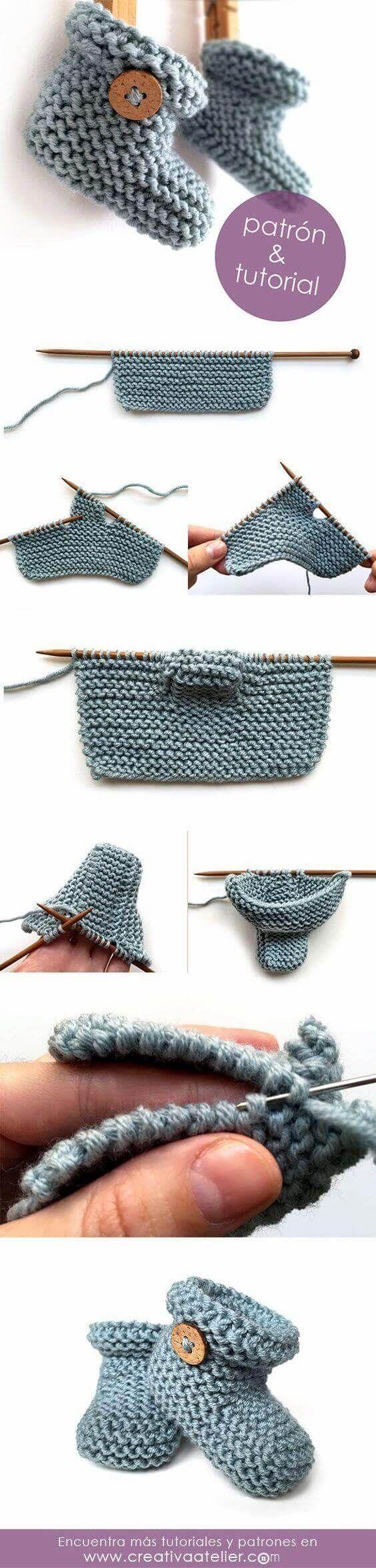 En modern 23 rg bebek patik modelleri ve yapllar rg patucos de punto sencillos tutorial y patrn simple knitted baby booties pattern and tutorial page is in spanish or portuguese or something bankloansurffo Image collections