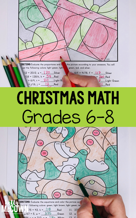 Middle School Math Coloring Pages. Create Christmas
