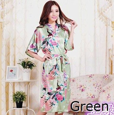 08fa95394b ... RB015 Satin Robes for Brides Wedding Robe Sleepwear Silk Pijama Casual  Bathrobe Animal Rayon Long Nightgown ...