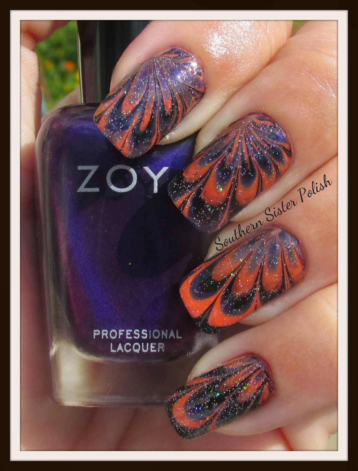Southern Sister Polish: 31 Days of October... Water Marbling Tips ...