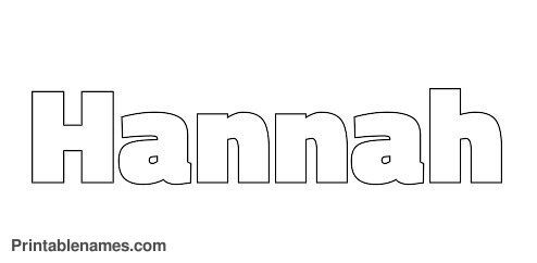 hannah coloring pages letters