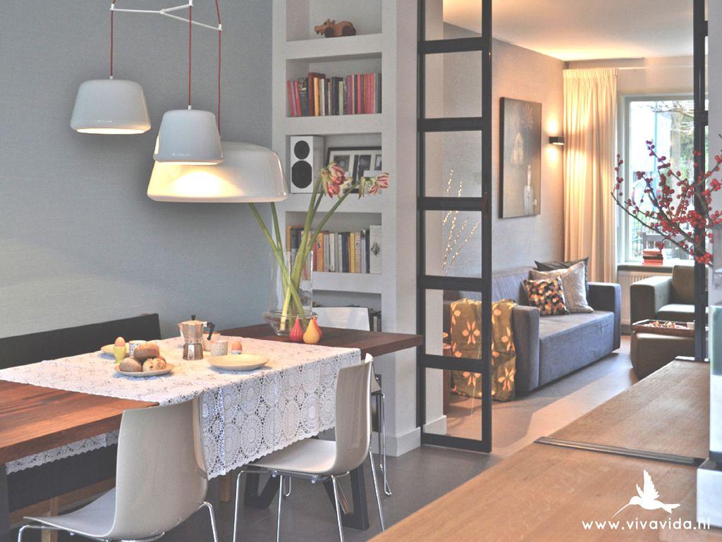 Viva vida jaren 30 woning inbouw kasten stalen for Schuifdeuren woonkamer