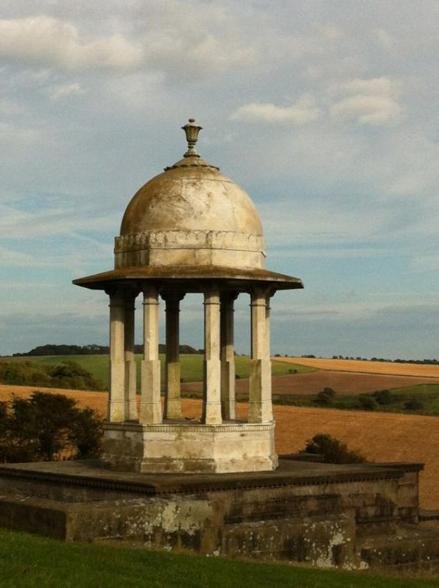 The Chattri Memorial to Indian Soldiers who died for Great Britain in WWI on a summer's afternoon, Nr Brighton, Sussex, England