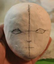 How to make a ball-jointed doll make face
