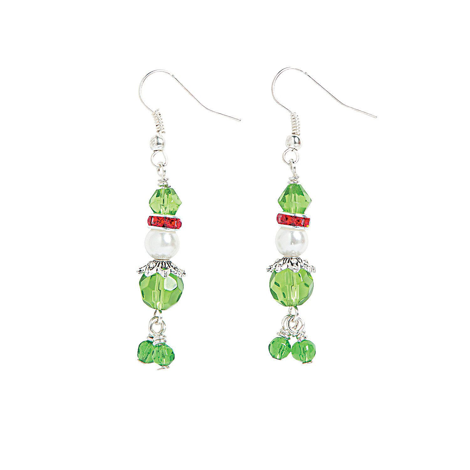 Pearl Elf Earrings Craft Kit Holiday