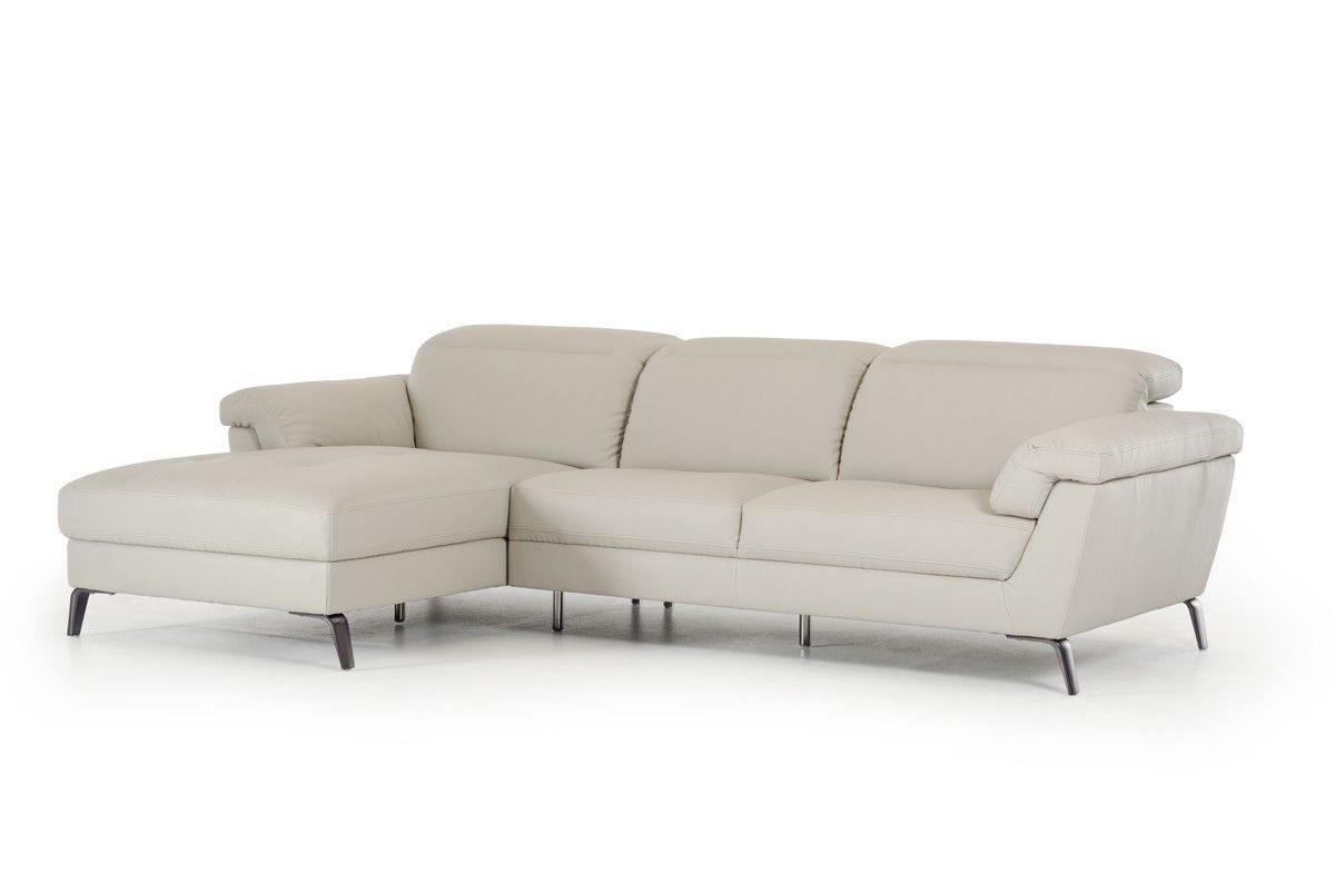 Divani Casa Edelweiss Modern Grey Sectional Sofa   Grey ...