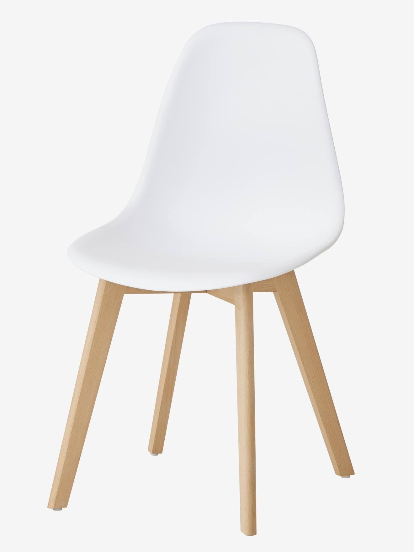 blanc Vertbaudet primaire Scandinave Chaise Chaise wym80vnON