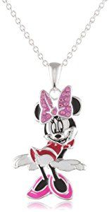 Disney Minnie Fine Silver Plated Crystal Bow and Enamel Pendant Enhancer  http://electmejewellery.com/jewelry/necklaces/pendant-enhancers/disney-minnie-fine-silver-plated-crystal-bow-and-enamel-pendant-enhancer-com/