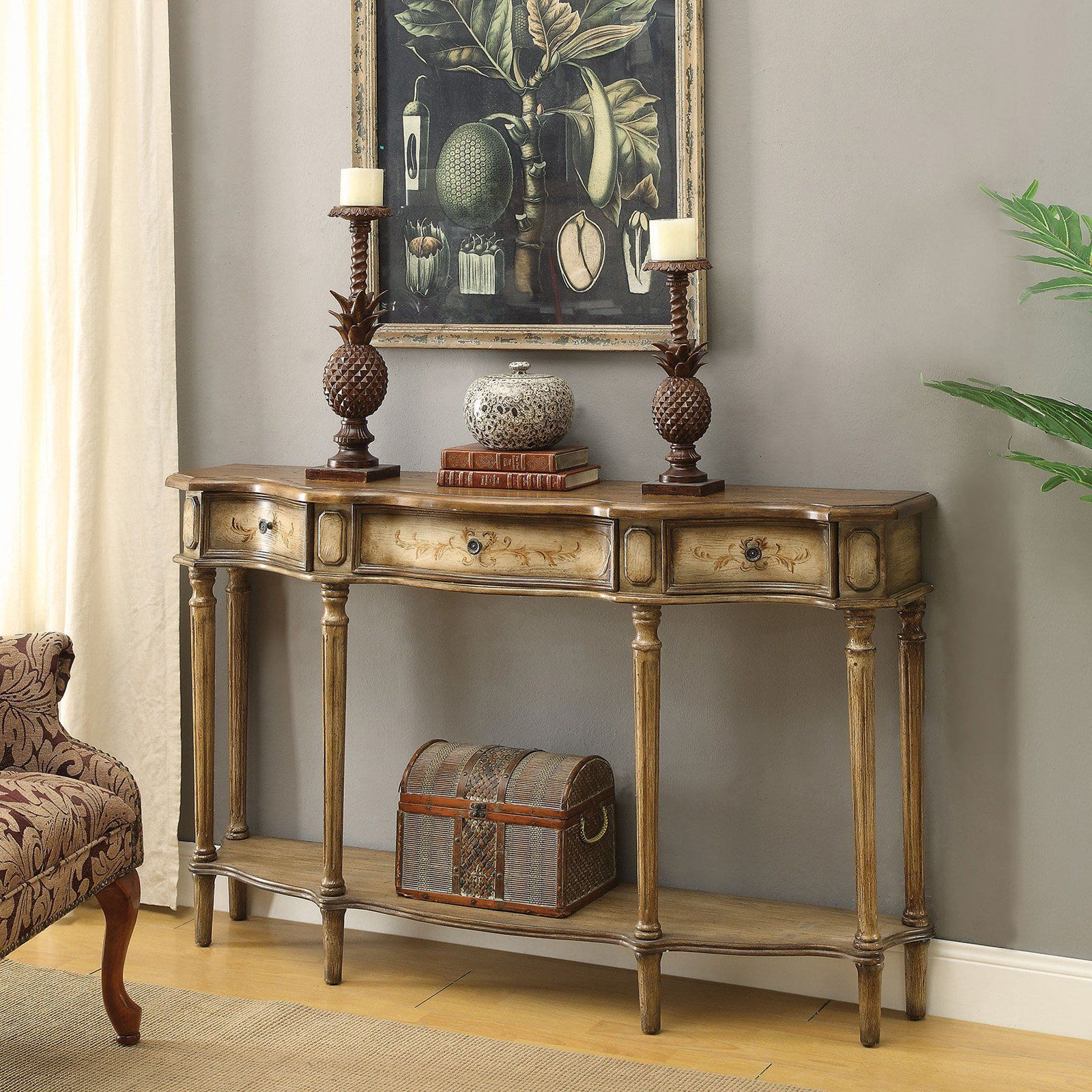Coaster Furniture Traditional Painted Light Brown Console