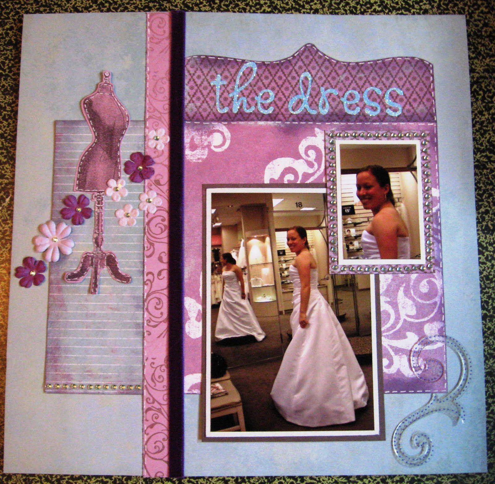 dress scrapbook layout Google Search Bridal shower