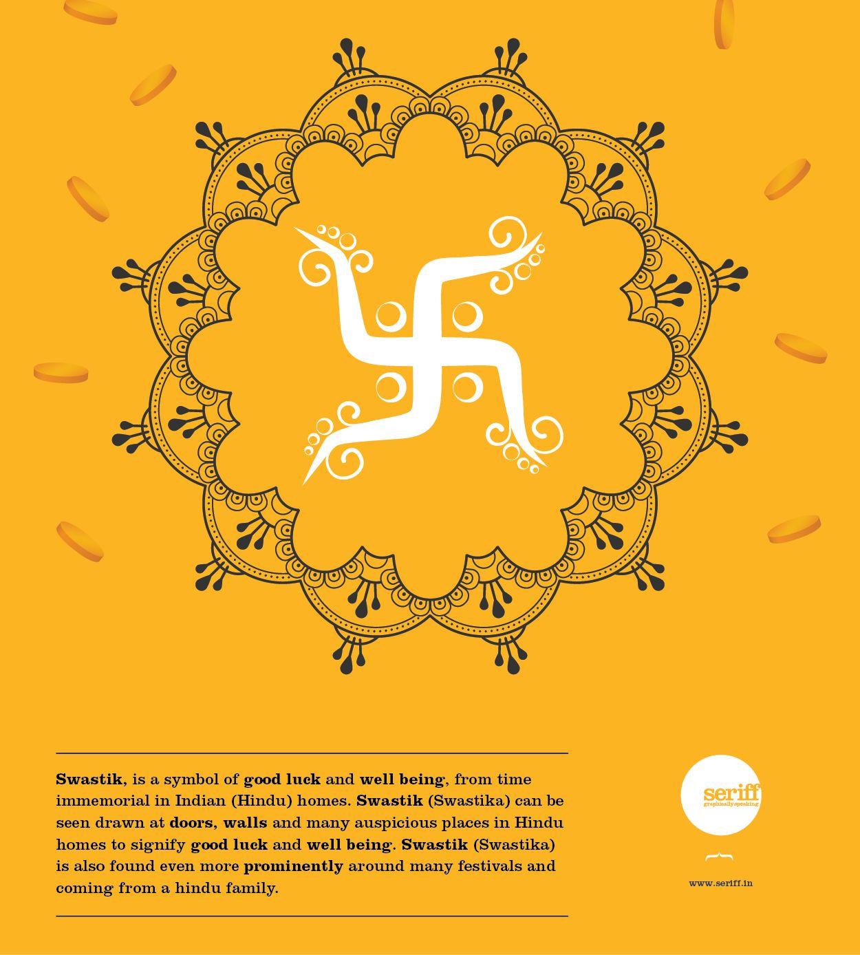 Swastik Swastik Symbol Goodluck Wellbeing Hindu Doors Walls