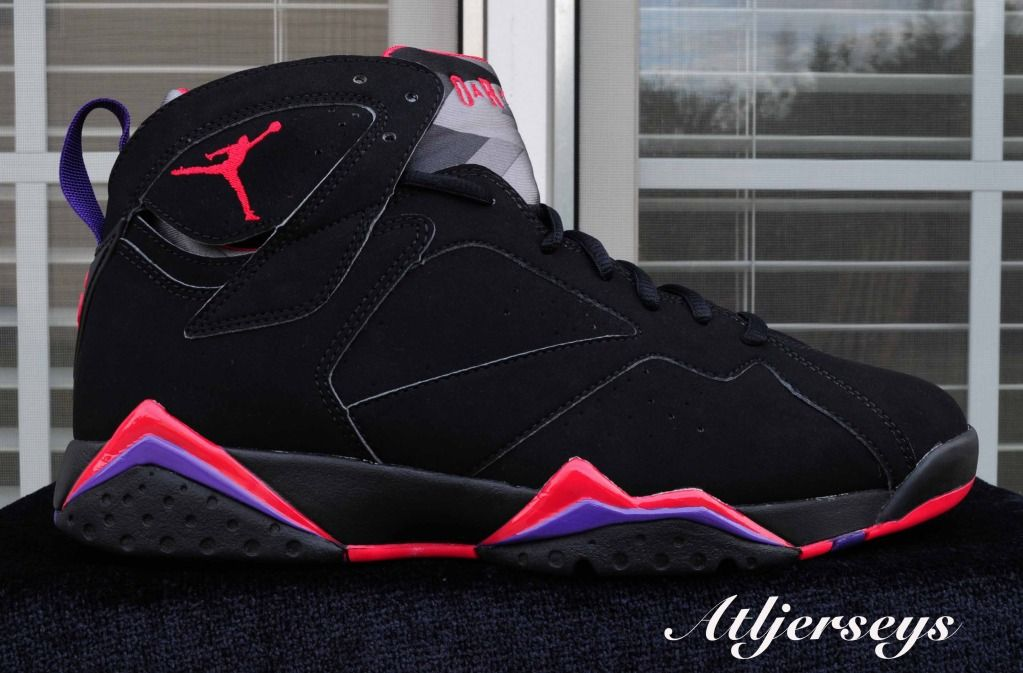 Air Jordan 7 Retro Raptors Black Dark Charcoal Red shoes c6f0f5d2d