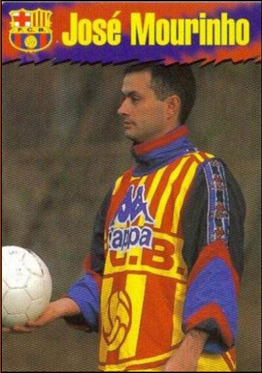 Beautiful Games: stickers from Old School Panini//Jose Mourinho
