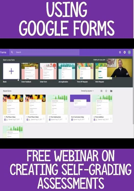 Getting Started with Google Forms - If you're a teacher wanting to use more technology in the classroom, you're going to love this FREE webinar! Learn how to get started making quizzes and tests in Google Forms. It's a great way to utilize Google Classroom and take control of your own professional development. Great for teachers at ANY grade level! #MrMault