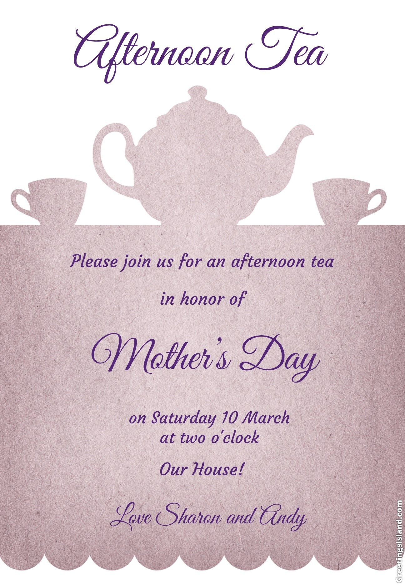An Online Invitation From Sharon Tea Party Ideas Supplies