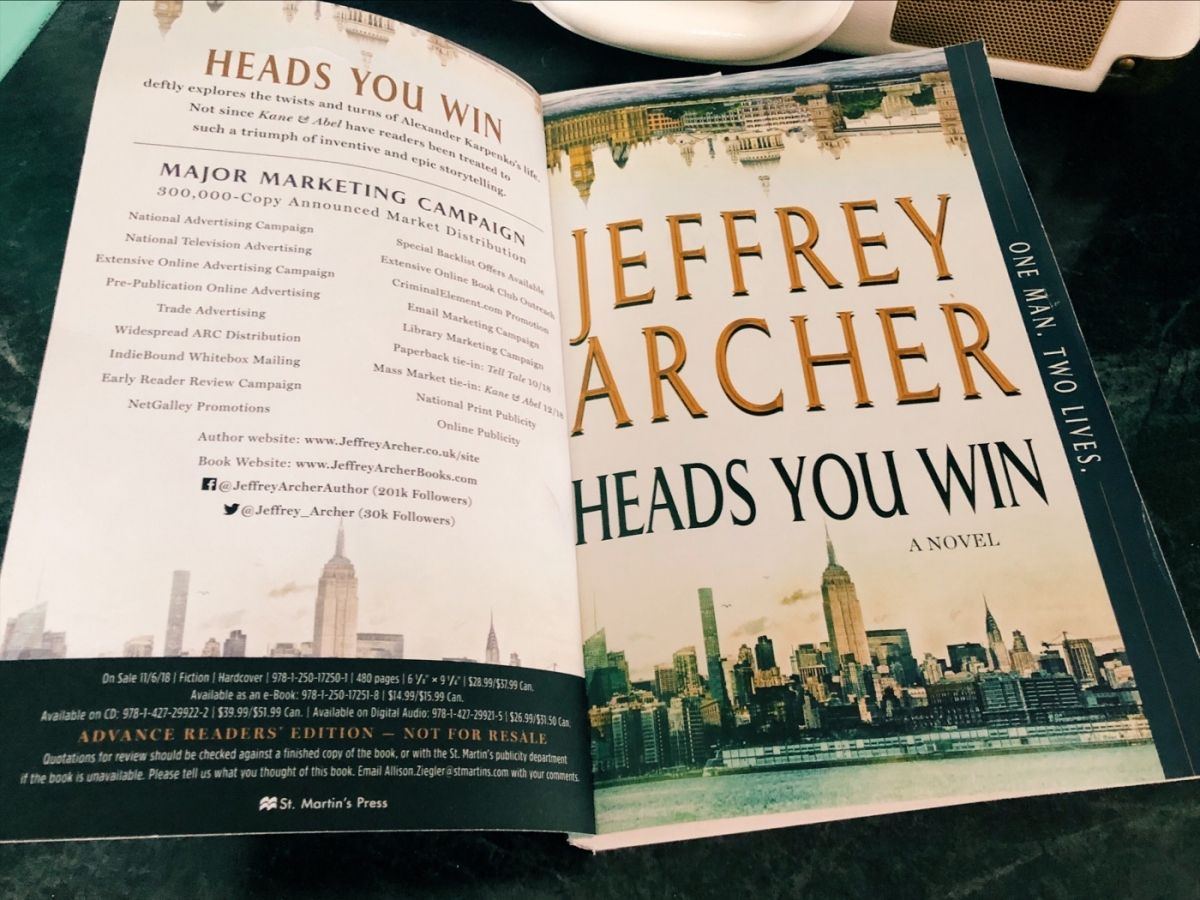 Jeffrey Archer Libros Heads You Win By Jeffrey Archer What I M Reading Wednesday