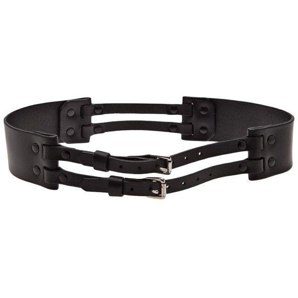 PRABAL GURUNG X ZANA BAYNE wide belt (7.820 ARS) ❤ liked on Polyvore featuring accessories, belts, fat belt, wide buckle belt, buckle belt, zana bayne and wide belt