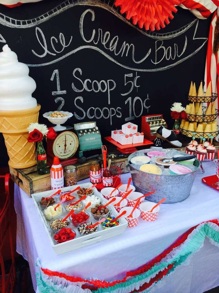 Ice cream summer party ideas summer parties birthdays for Summer food party ideas