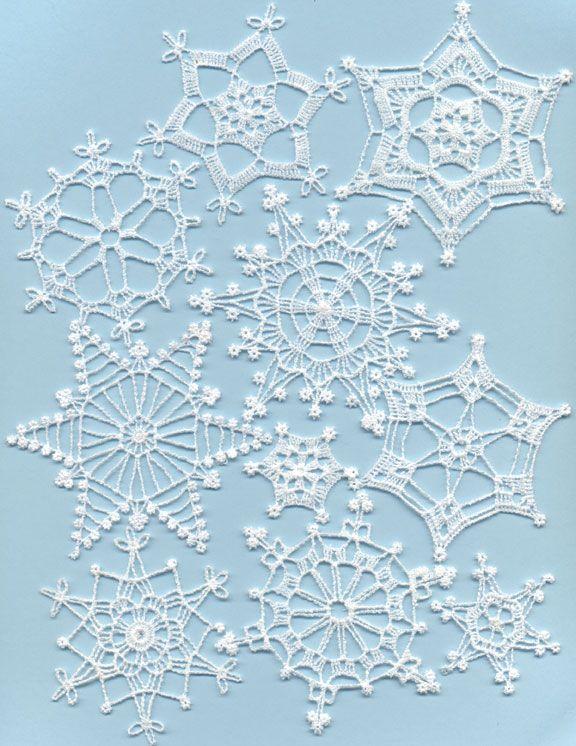 Winter Jewels Mock Crochet Free-Standing Lace Snowflakes | Crochet ...