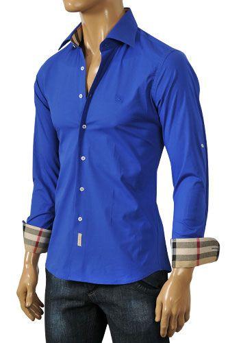 Mens Designer Clothes   BURBERRY Men's Dress Shirt #77 More