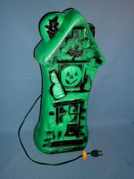 green haunted house blow mold