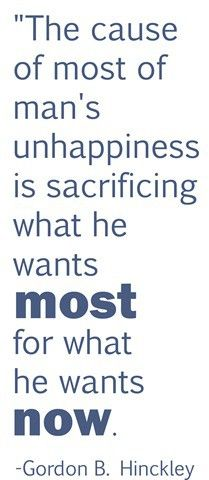 Don't sacrifice what matters the most for trivial things. (: Needed this today! Coming to Earth is a test.