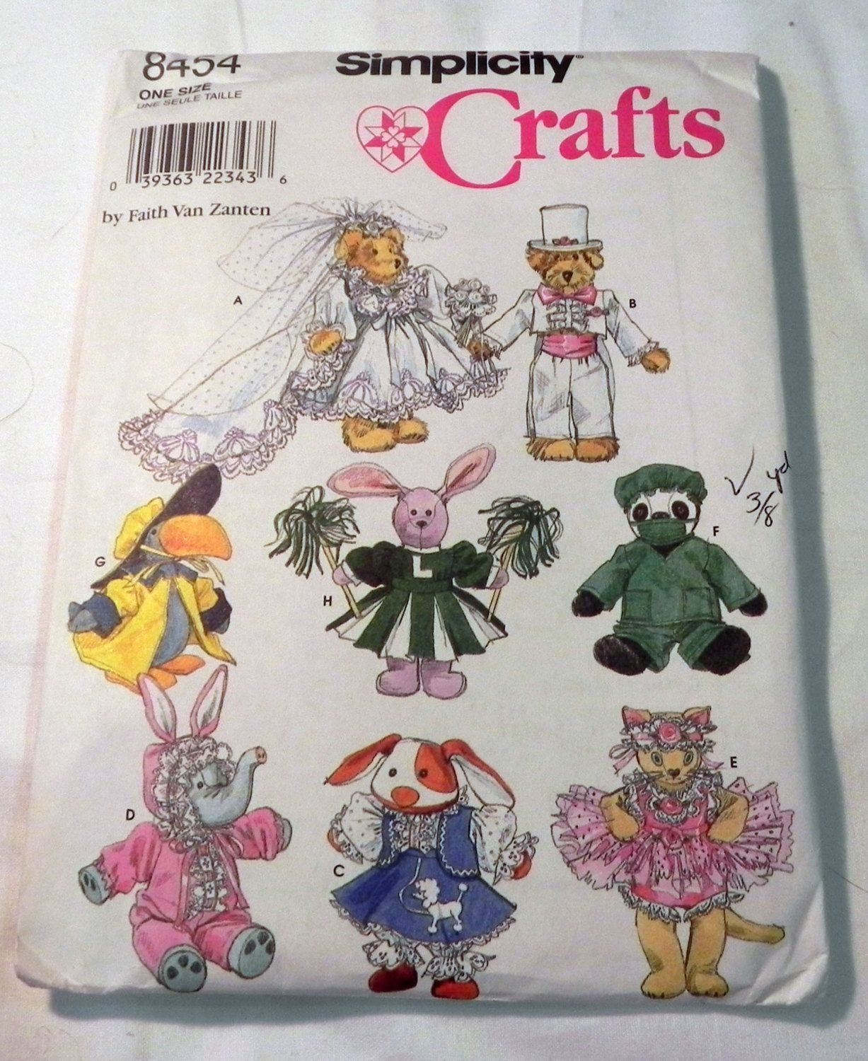 Stuffed Animal Beanie Baby clothes outfits craft sewing pattern 8