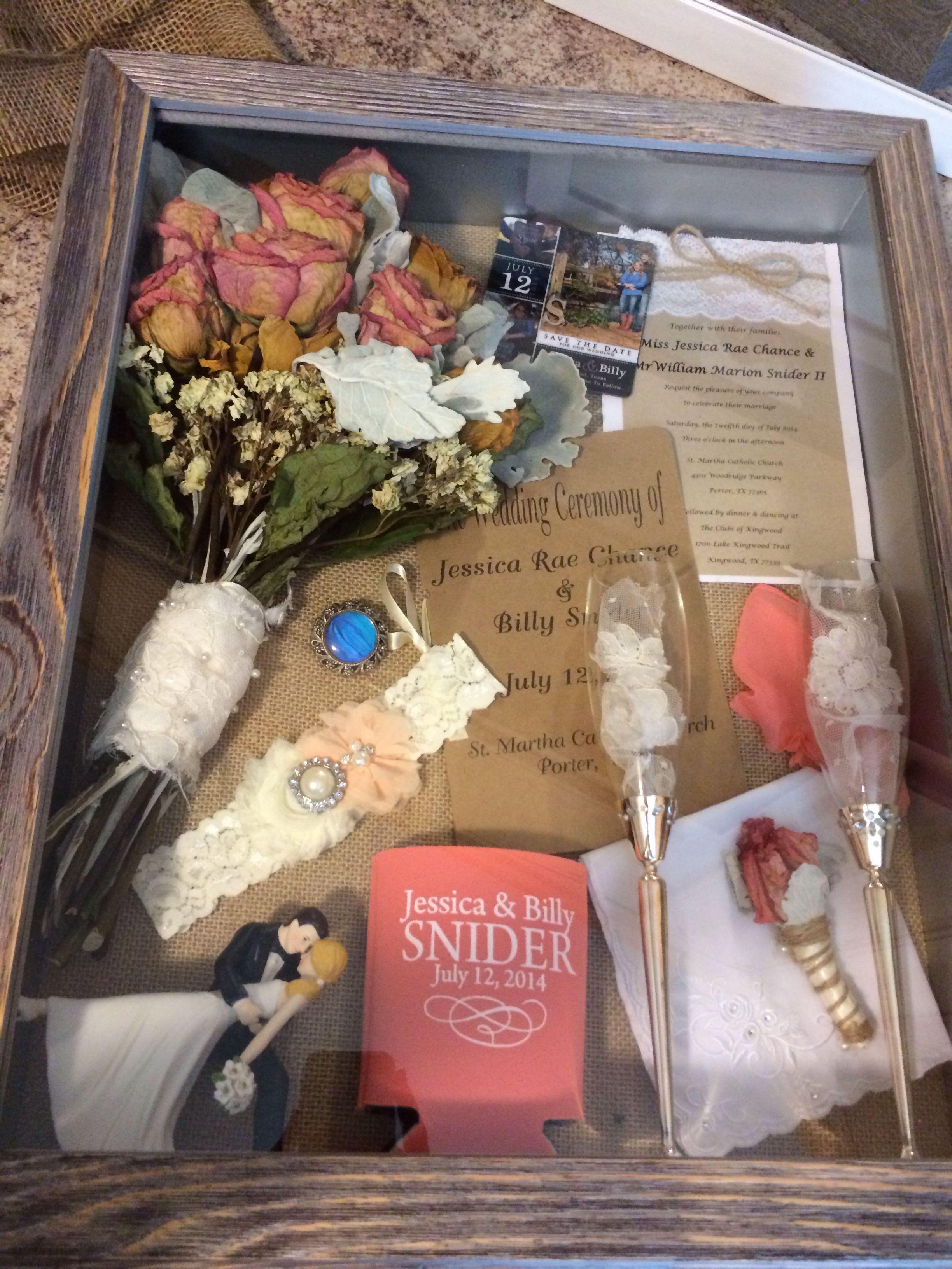 Wedding post box decorations  Wedding shadow box LOVE this idea  Wedding Decor  Pinterest