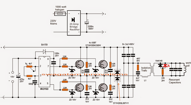 How To Design An Induction Heater With Calculations And Working Formulas Homemade Circuit Pro Circuit Projects Induction Heating Electrical Circuit Diagram