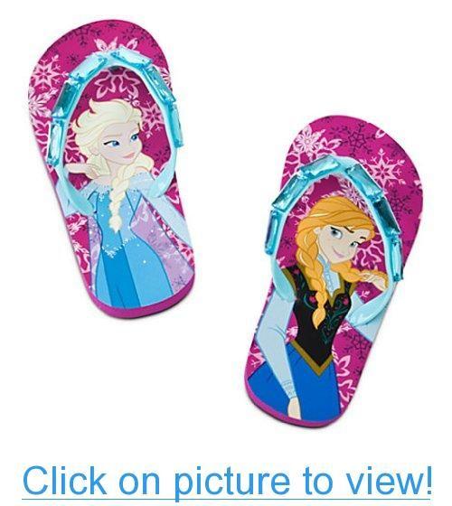46de7050d74634 Disney Store Frozen Elsa Anna Flip Flop Beach Sandals Shoes Size – Go Shop  Shoes
