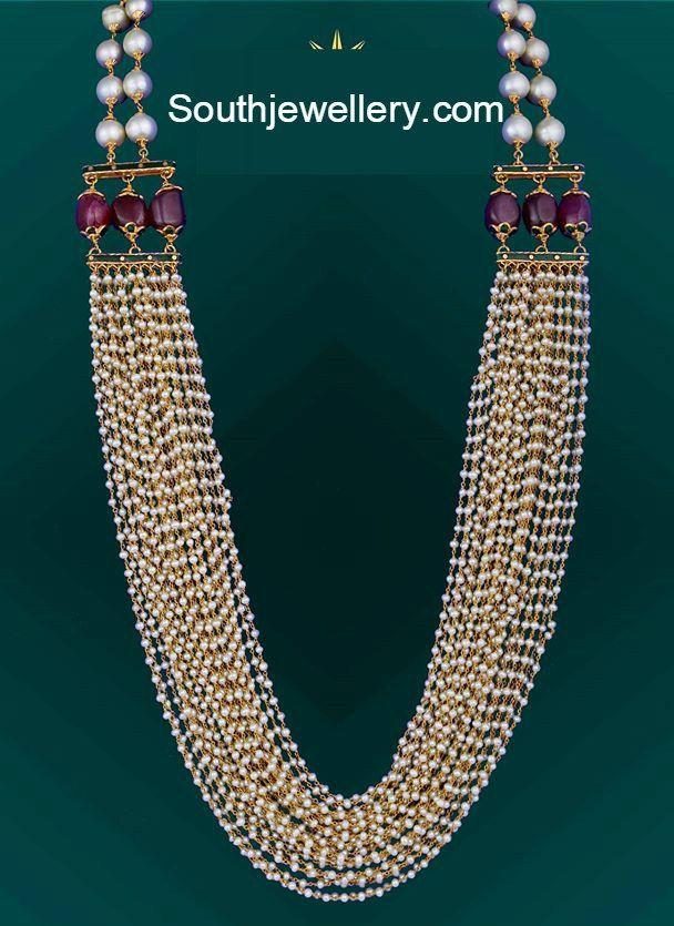 97900cd5dcb78 Multi Strand Pearls Haram   Jewelry in 2019   Gems jewelry, Pearl ...