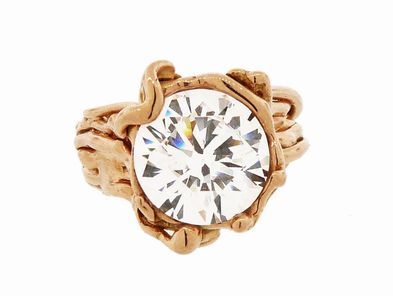 UAU! Rose Gold Solitaire Ring - Fits a 5CT stone