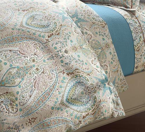 Cuddledown Cotton Sateen Borghese Paisley Duvet Cover