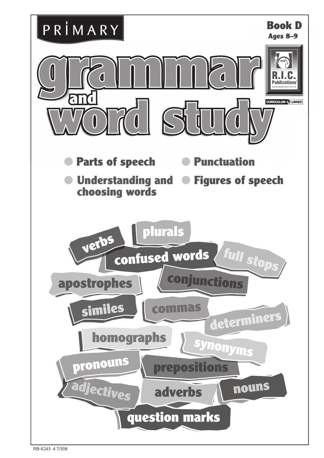 Primary Grammar And Word Study Book D