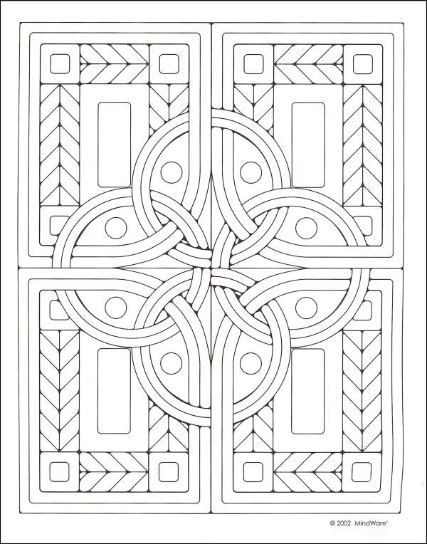 celtic mosaics coloring book additional photo inside page