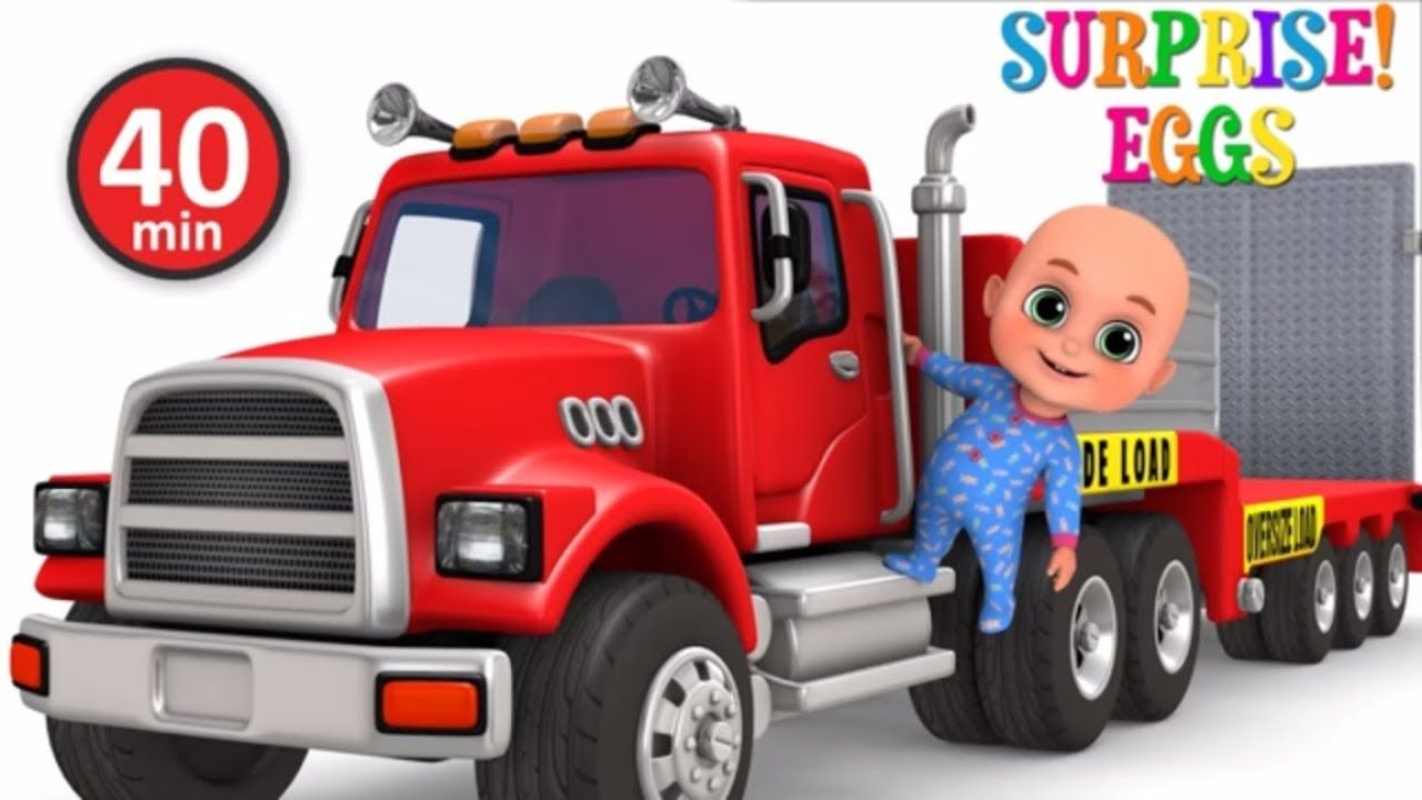 Car Loader Trucks for kids - Cars toys videos, police chase, fire