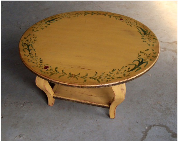 Hand Painted Monterey Round Table Finishes Options