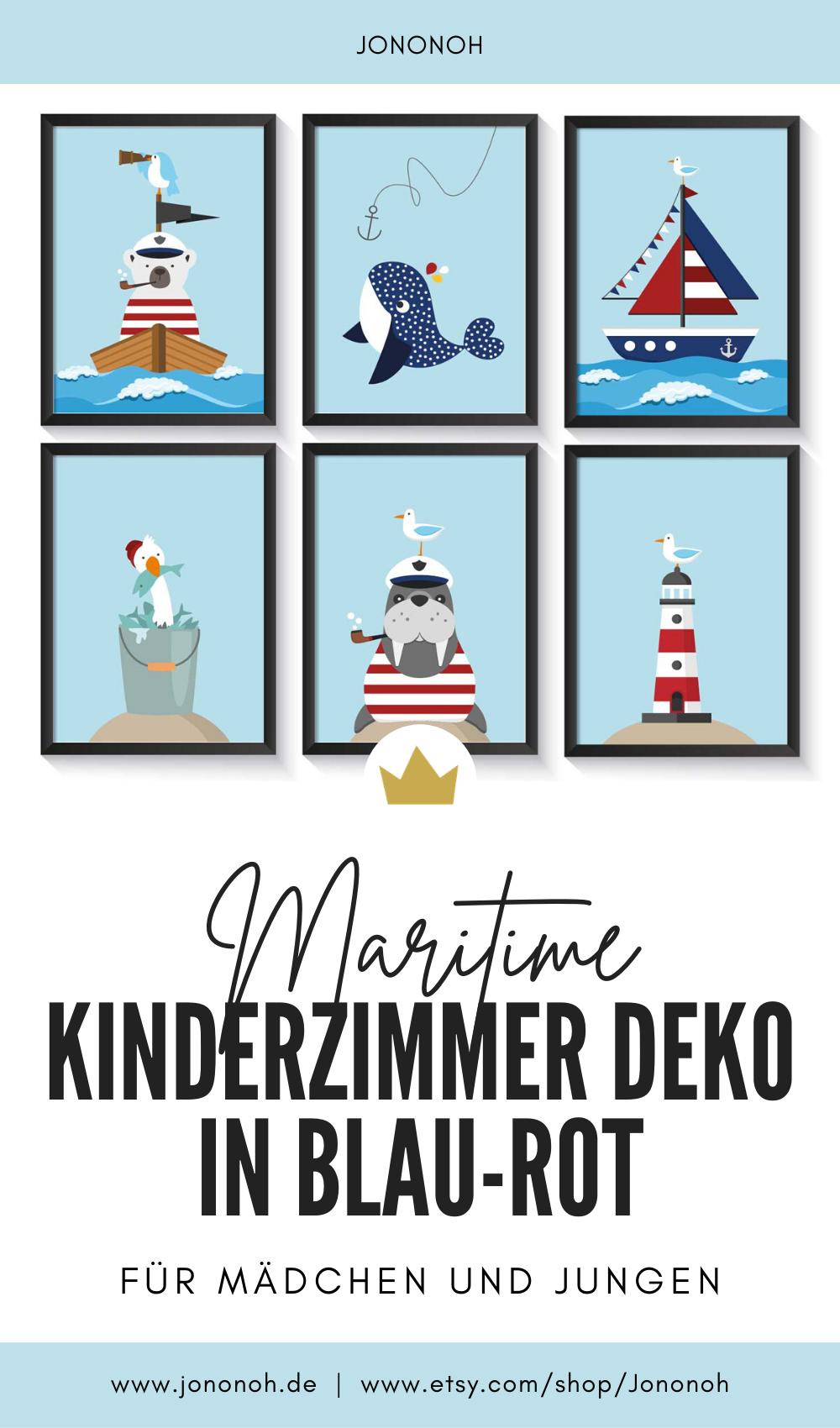 Poster für die maritime Kinderzimme