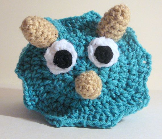 Triceratops+Hat+PDF+Crochet+Pattern++Newborn+to+by+HGSDesigns