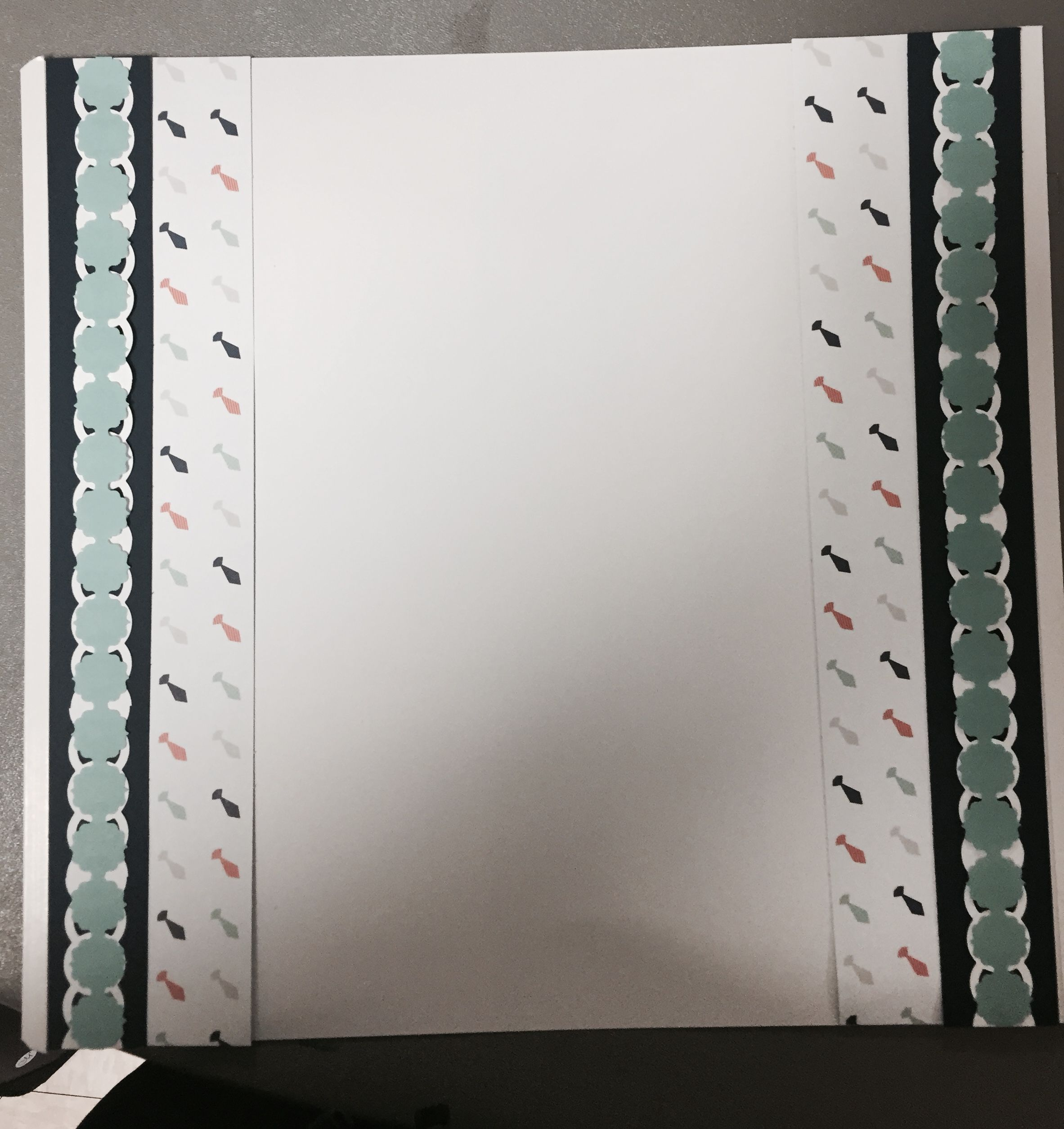 Scrapbook border I made using the Creative Memories Circle Weave Chain and Frame Chain border maker cartridges.