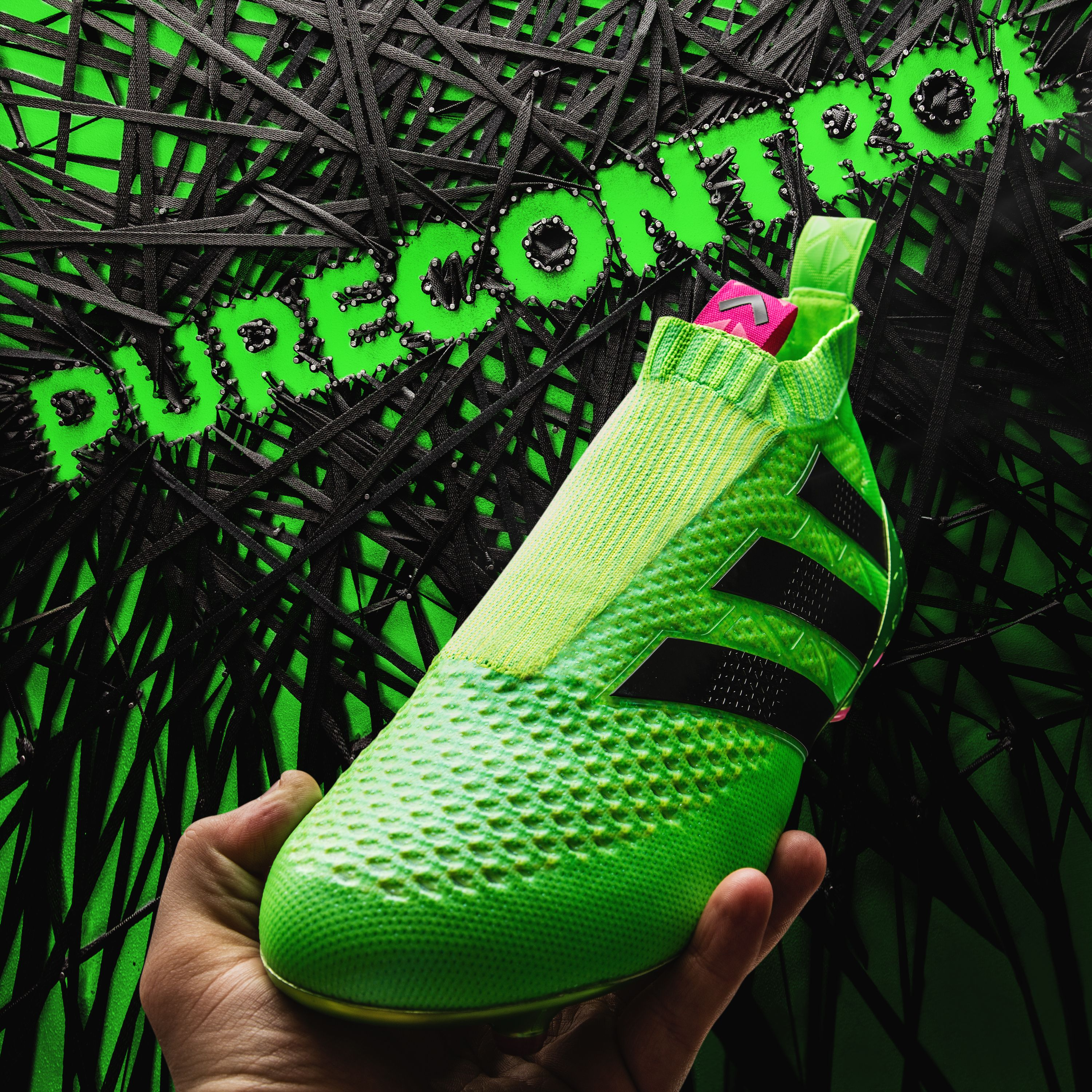 The amazing new, laceless adidas Ace 16+ GTI Pure Control Soccer Cleat.  Preorder