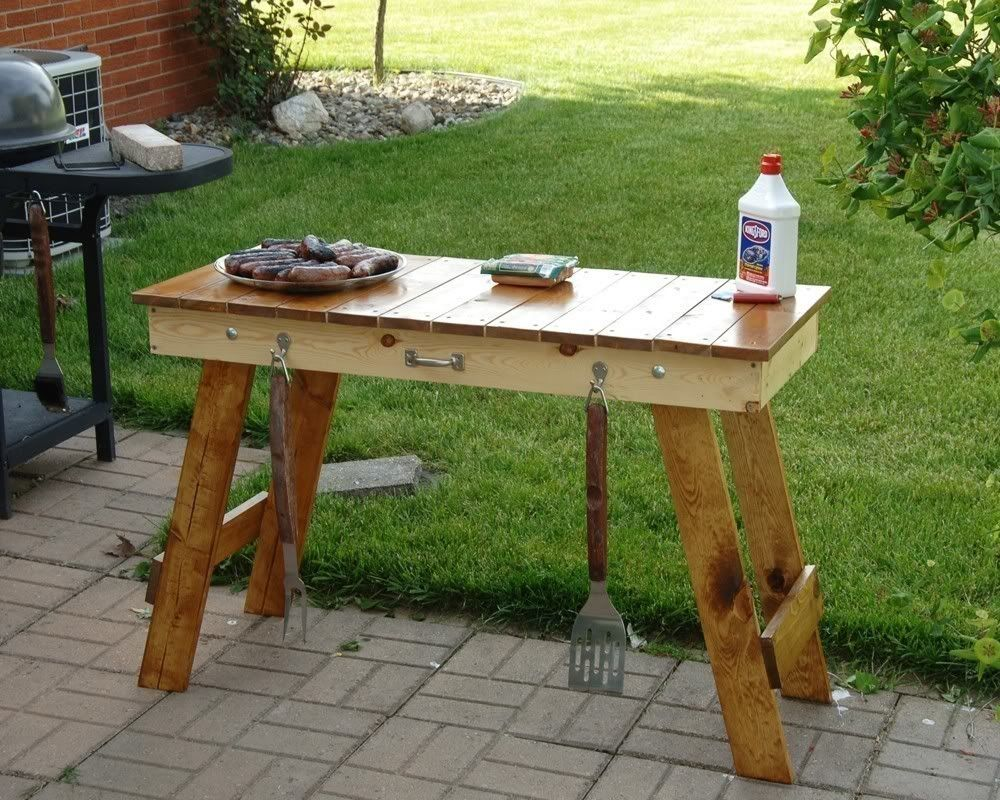 Weber Grill Side Table Kit Wood Grill Table Tailgate Table