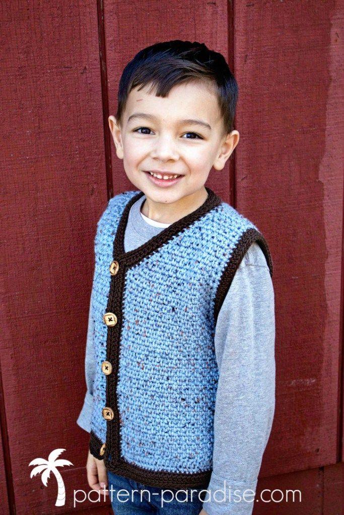 b467d570871a Crochet Pattern  Uptown Sweater Vest