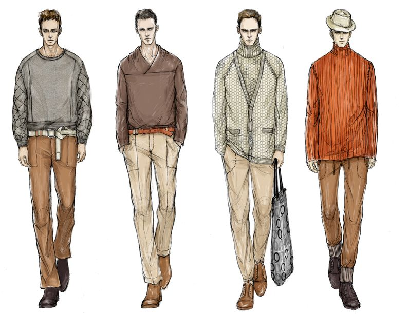 Fashion Illustrator Mengjie Di Commission From Stylesight Trend Forecasting Menswear Illu Mens Designer Fashion Fashion Sketches Fashion Illustration Sketches